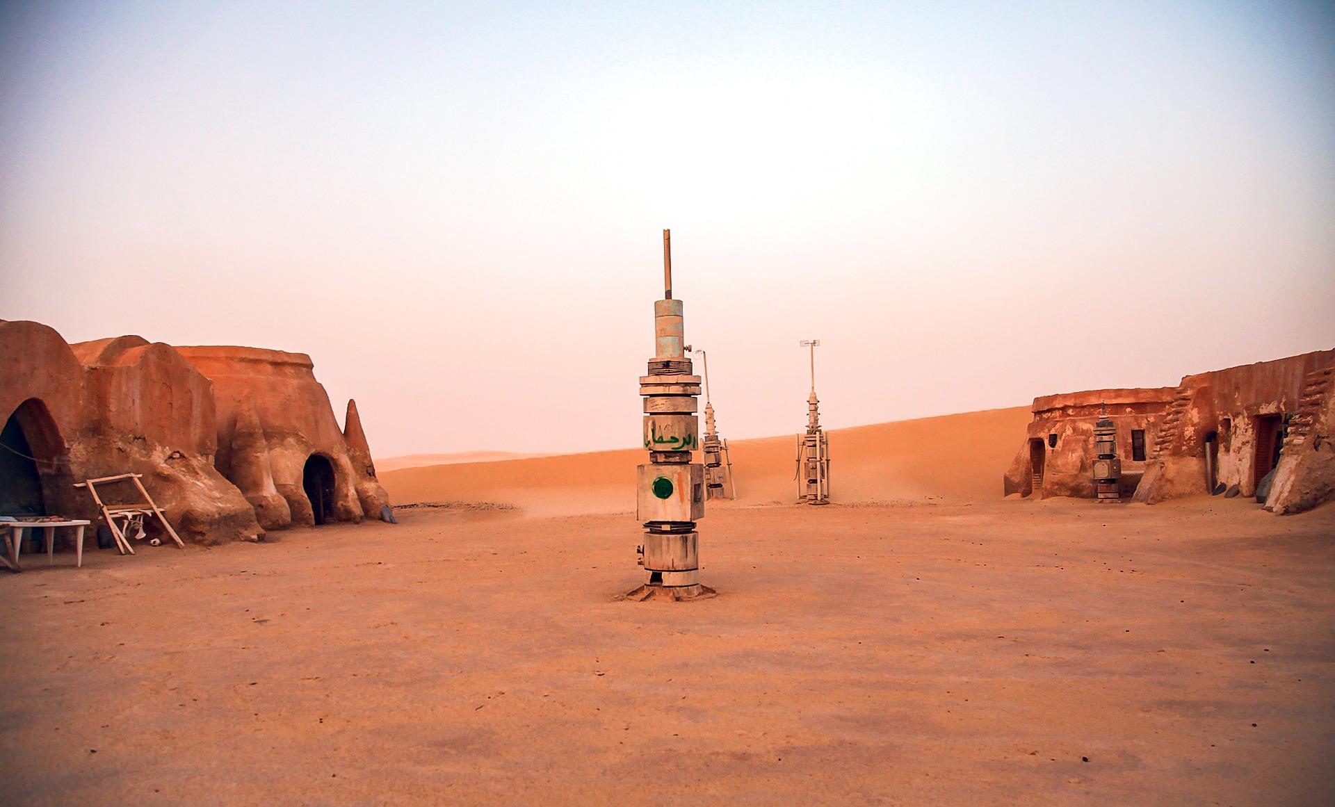 スターウォーズ撮影地の風景